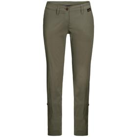 Jack Wolfskin Desert Pantaloni arrotolabili Donna, woodland green